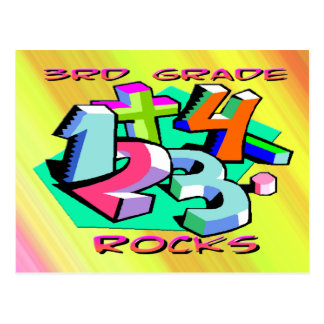 3rd Grade Rocks - Numbers Postcard