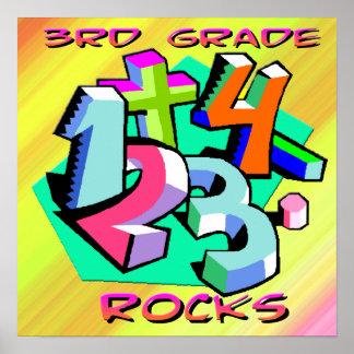 3rd Grade Rocks - Numbers Poster