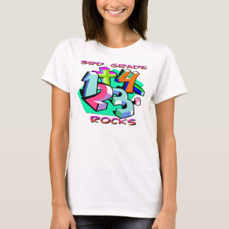 3rd Grade Rocks - Numbers T-Shirt