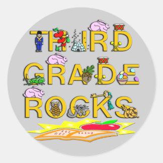 3rd Grade Rocks Stickers