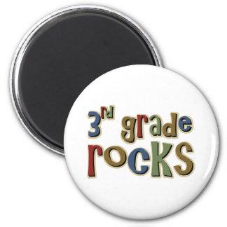 3rd Grade Rocks Third 2 Inch Round Magnet