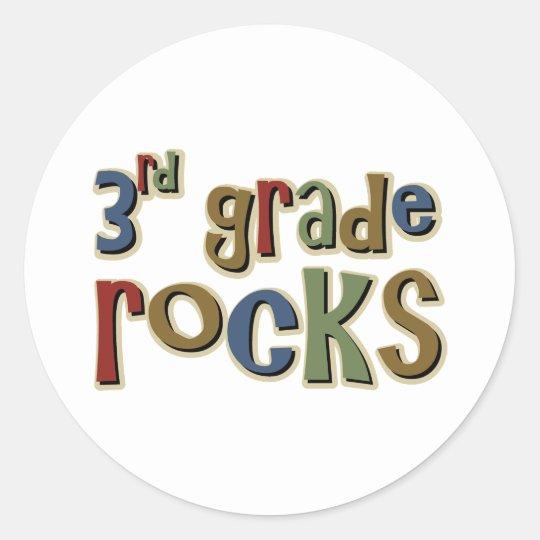 3rd Grade Rocks Third Classic Round Sticker