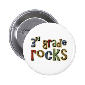 3rd Grade Rocks Third Pinback Button