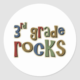 3rd Grade Rocks Third Stickers