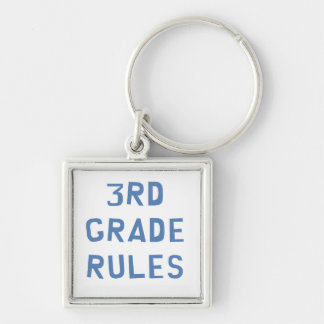 3rd Grade Rules Keychain