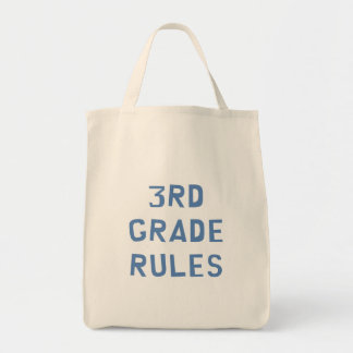 3rd Grade Rules Tote Bag