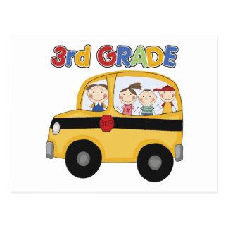 3rd Grade School Bus Postcard