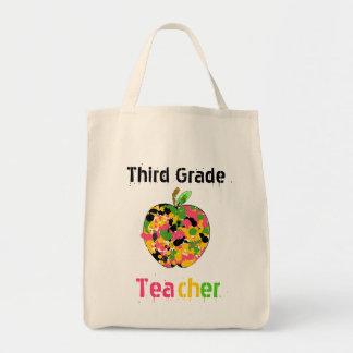 3rd Grade Teacher Apple  Bag