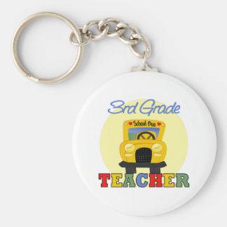 3rd Grade Teacher,bus Basic Round Button Keychain