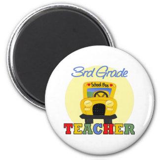 3rd Grade Teacher,bus 2 Inch Round Magnet