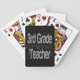 3rd Grade Teacher Extraordinaire Playing Cards