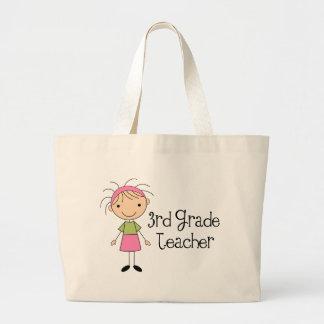 3rd Grade Teacher Gift Large Tote Bag