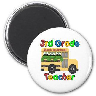 3rd Grade Teacher 2 Inch Round Magnet