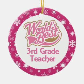 3rd Grade Teacher Ornament