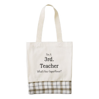 3rd. Grade Teacher Zazzle HEART Tote Bag