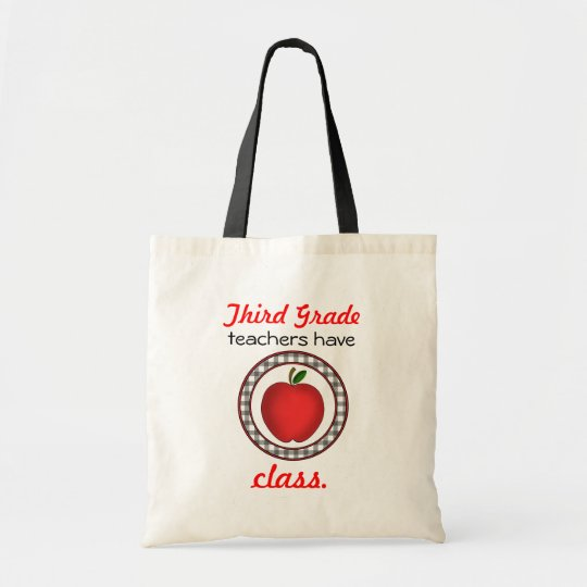 3rd grade Teachers Have Class Apple Bag