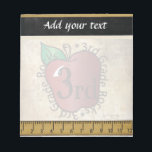 "3rd Grade Teacher&#39;s Vintage Style Notepad<br><div class=""desc"">Notepad. 100% Customizable. Ready to Fill in the box(es) or Click on the CUSTOMIZE button to add, move, delete, resize or change any of the font or graphics. Made with high resolution vector and/or digital graphics for a professional print. NOTE: (THIS IS A PRINT. All zazzle product designs are &quot;prints&quot;...</div>"