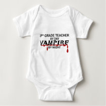 3rd Grade Vampire by Night Baby Bodysuit