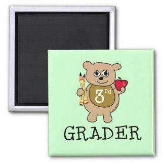 3rd Grader School 2 Inch Square Magnet