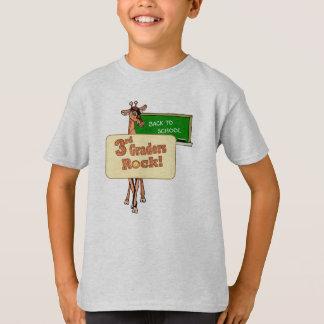 """""""3rd Graders Rock"""" Giraffe Design T-Shirt"""