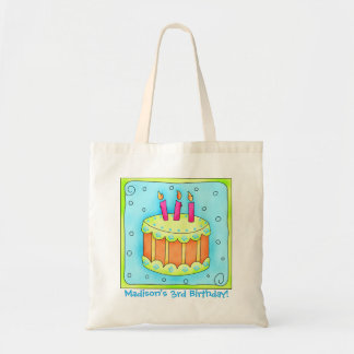 3rd Happy Birthday Cake Name Personalized Gift Bag