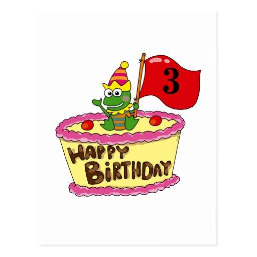 3rd happy birthday post card