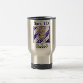 3rd ID 2003 OIF 15 Oz Stainless Steel Travel Mug