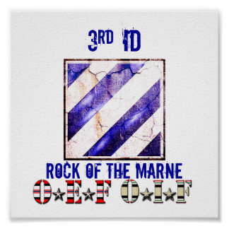 3RD ID ROCK OF THE MARNE OEF OIF POSTER