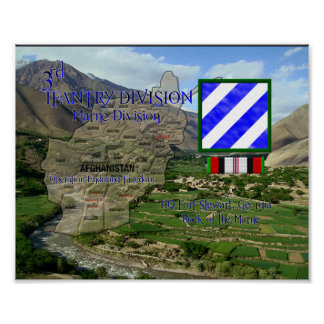 3rd Infanrty Division OEF Veteran Poster