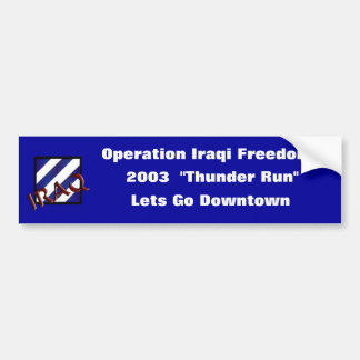 3rd Infantry Division Bumper Sticker