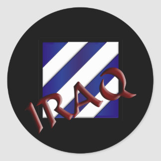 3rd Infantry Division Classic Round Sticker