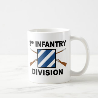 3rd Infantry Division - Crossed Rifles - With Text Coffee Mug