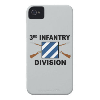 3rd Infantry Division - Crossed Rifles - With Text iPhone 4 Cover
