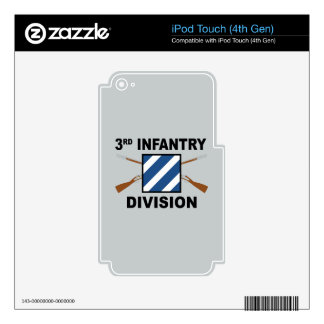 3rd Infantry Division - Crossed Rifles - With Text iPod Touch 4G Skin