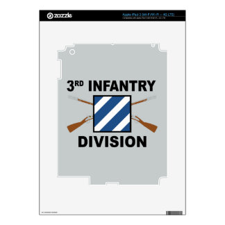 3rd Infantry Division - Crossed Rifles - With Text iPad 3 Skins