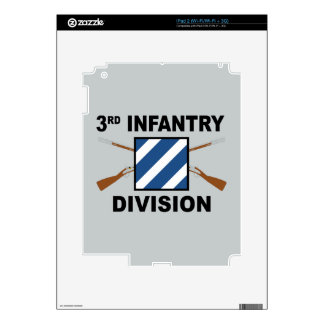 3rd Infantry Division - Crossed Rifles - With Text Skin For iPad 2