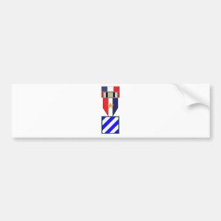 3rd Infantry Division Iraq War Campaign Bumper Sticker