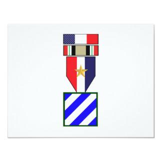 3rd Infantry Division Iraq War Campaign 4.25x5.5 Paper Invitation Card