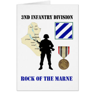 3rd Infantry Division Iraq War Vet Customizable Ca Card