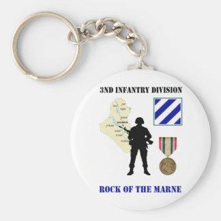 3rd Infantry Division Iraq War Vet Keychain