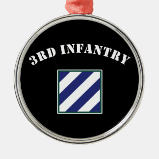 3rd Infantry Division Metal Ornament
