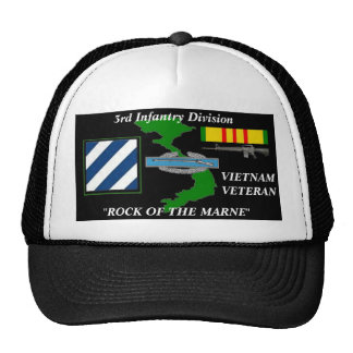 "3rd Infantry Division""Rock Of The Marne"" Ball Caps"