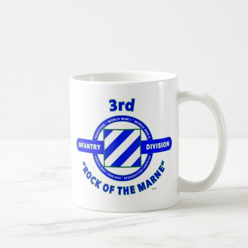 """3RD INFANTRY DIVISION""""ROCK OF THE MARNE"""" MUGS"""