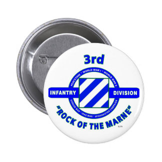 """3RD INFANTRY DIVISION""""ROCK OF THE MARNE"""" PINBACK BUTTON"""