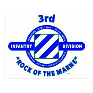 """3RD INFANTRY DIVISION""""ROCK OF THE MARNE"""" POSTCARD"""