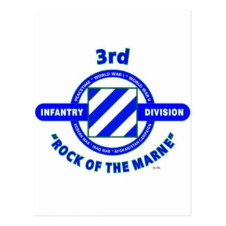 "3RD INFANTRY DIVISION""ROCK OF THE MARNE"" POSTCARD"