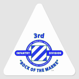 """3RD INFANTRY DIVISION""""ROCK OF THE MARNE"""" TRIANGLE STICKER"""