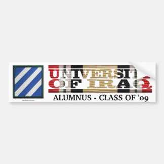 3rd Infantry Division U of Iraq Alumnus Sticker
