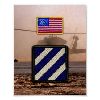 3rd Infantry Division Veterans Vets Patch Print