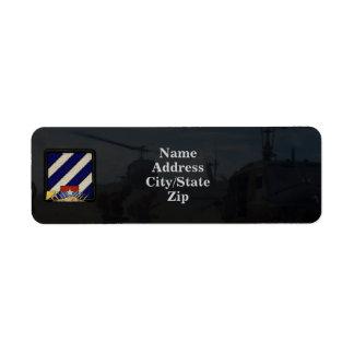 3rd infantry division vietnam nam war patch return address labels